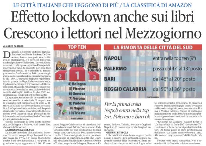 Quotidiano Del Sud L Altravoce Dell Italia Effetto Lockdown Anche Sui Libri Crescono I Lettori Nel Mezzogiorno Marco Castoro